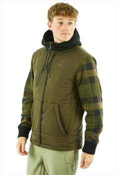 thirtytwo Arrowhead Insulated Hooded Ski/Snowboard Jacket, M Olive