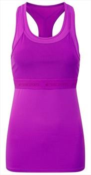 Tribe Sports Layered Racer Women's Running Vest, UK 12 Berry