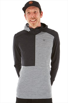 Norrona Wool Thermal Hoodie M Mid Grey