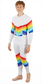OOSC Adult Unisex Baselayer Thermal Set, S Rainbow Road