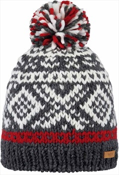 Barts Log Cabin Ski/Snowboard Beanie Bobble Hat One Size Dark Heather