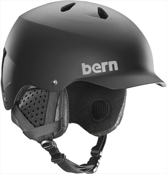 Bern Watts EPS Winter Snowboard Helmet, S Matte Black