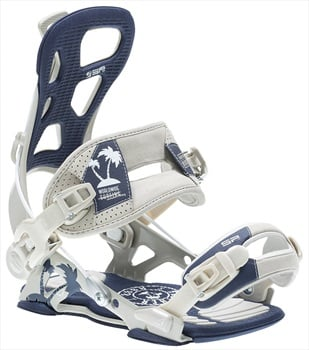 SP Adult Unisex Brotherhood Snowboard Bindings, L Navy/Grey 2020