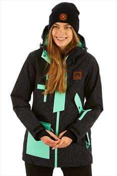 OOSC 1080 Women's Snowboard/Ski Jacket, XS Leopard Print