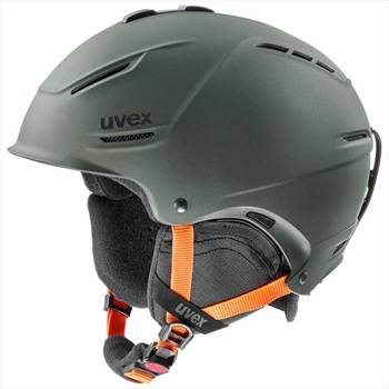 UVEX Adult Unisex P1us 2.0 Ski/Snowboard Helmet, L Olive Matte