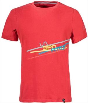 La Sportiva Stripe 2.0 Logo Rock Climbing T-shirt, S Cardinal Red