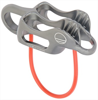 Wild Country Pro Guide Lite Rock Climbing Belay Device, Grey/Oranage