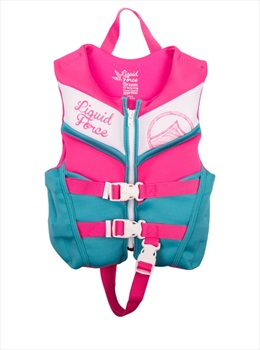 Liquid Force Dream CGA Kids Buoyancy Vest, Child 30-50lb Pink 2019