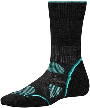 Smartwool PhD Outdoor Light Crew Women's Hiking Socks 2-4.5 Charcoal