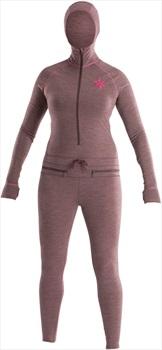 Airblaster Womens Merino Ninja Thermal Base Layer Suit, S Plum
