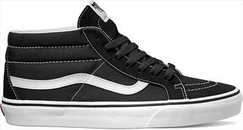 Vans Sk8-Mid Reissue Skate Shoes, UK 8.5 Black/True White
