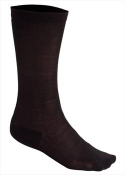Silkbody Puresilk Knee Length Liner Socks, L Black