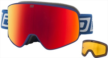 Dirty Dog Mutant Legacy Red Fusion Snowboard/Ski Goggles, L Matte Navy