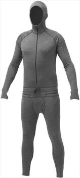 Airblaster Mens Merino Ninja Suit Hooded Thermal, L Natural Black
