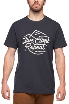Black Diamond Live Climb Repeat Tee Organic Cotton T-shirt, L Eclipse