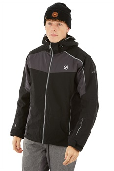 Dare 2b Intermit Ski/Snowboard Jacket, L Black/Ebony Grey