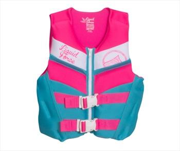 Liquid Force Dream CGA Kids Buoyancy Vest, Youth 50-90lb Pink