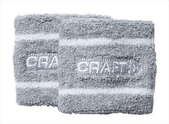Craft Wrist Sweatband, OS Grey Melange/White
