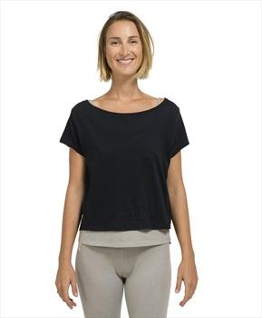 Oxbow Tipoli Women's Double Yoga T-shirt Size 4 Noir