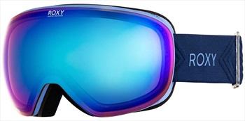 Roxy Popscreen Sonar ML Blue Women's Ski/Snowboard Goggles, Medieval