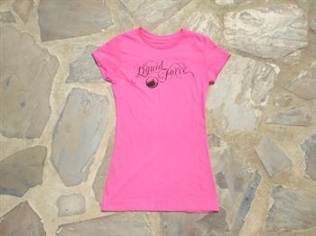 Liquid Force Ladies Smooth Knit SS Ladies T Shirt, Small, Pink