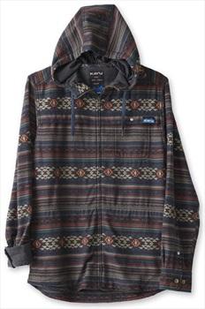 Kavu Manta Zip Shirt Jacket, L Desert Sand Stripe