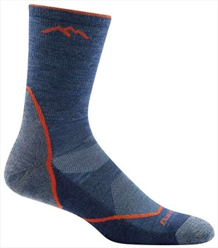 Darn Tough Light Hiker Micro Crew Hiking Socks, M Denim