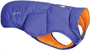 Ruffwear Quinzee Jacket Insulated Dog Coat, Small Huckleberry Blue