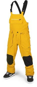 Volcom Adult Unisex Roan Bib Overall Snowboard/Ski Pants, M Resin Gold