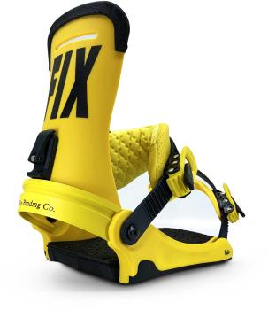 Fix Yale Snowboard Bindings, Large Yellow 2021