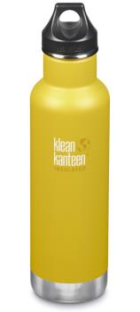 Klean Kanteen Insulated Classic Water Bottle, 592ml Lemon Curry