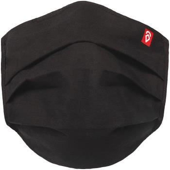 Airhole Adult Unisex Basic 5 Pack Protective Reusable Face Mask, One Size Black