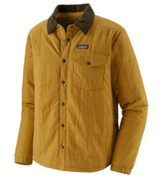 Patagonia Isthmus Quilted Insulated Shirt Jacket XL Buckwheat Gold