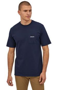 Patagonia Adult Unisex P-6 Logo Pocket Responsibili-Tee T-Shirt, S Classic Navy