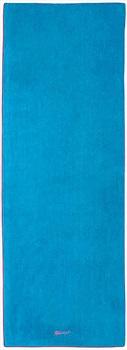 Gaiam Yoga/Pilates Mat Towel, One Size Vivid Blue/Fuchsia Red