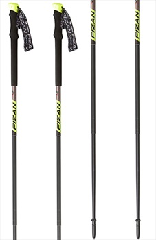 Fizan Compact Pro Ultralight Trekking Poles, 59-132cm Grey/Yellow