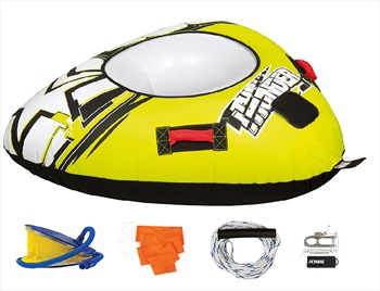 Jobe Thunder Towable Inflatable Tube Package 1 Rider Yellow