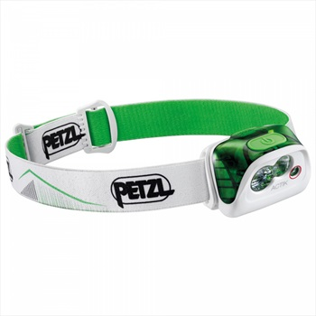 Petzl Actik IPX4 Compact Multi-beam Headtorch, 350 Lumens Green
