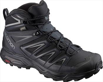 Salomon X ULTRA 3 Mid GTX Wide Hiking Boots, UK 12 Black/India Ink