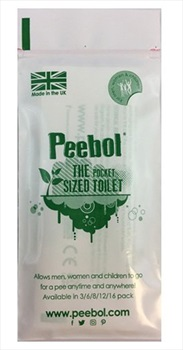 Shewee Peebol Pocket-Sized Disposable Urinal Bag, Pocket Pack