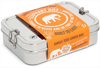 Elephant Box Single Tier Lunch Box Stainless Steel Food Container