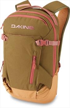 Dakine Heli Pack Women's Snowboard/Ski Backpack 12L Dark Olive/Caramel