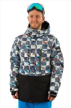 Quiksilver Mission Printed Block Ski/Snowboard Jacket, M Red Ongrid
