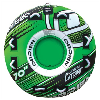 O'Brien Super Le Tube Deluxe Round Inflatable Tube, 2 Rider Green 2020