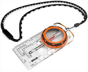 SILVA Expedition Compass Backpacking & Ski Navigation Aid, 360° Orange