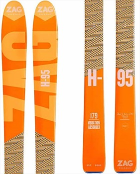 ZAG Adult Unisex H-95 Ski Only Skis, 184cm Orange 2019