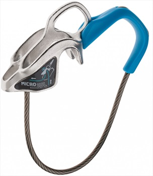 Edelrid Micro Jul Rock Climbing Belay Device, Double Rope, Blue