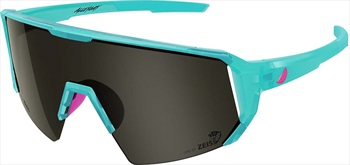 Melon Adult Unisex Alleycat Smoke Performace Sunglasses, M/L Turquoise/ Neon Pink