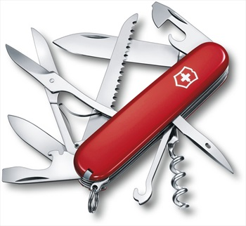 Victorinox Huntsman Swiss Army Penknife Pocket Multi Tool, 15 Tools