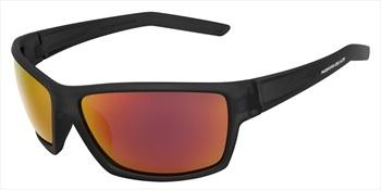 North Beach Oarfish Red Mirror Polarised Sunglasses, Matte Xtal Green